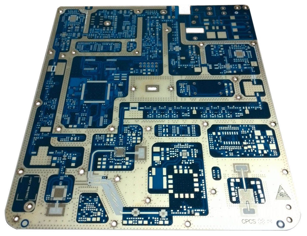 Layer Cavity & Hybrid PCB with PTFE & LowFlow Prepreg & FR4 -Top